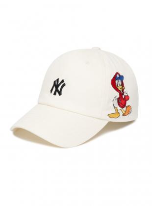 MLB x Disney Donald Duck Unstructure ball cap NY (3ACPD011N-50IVS)