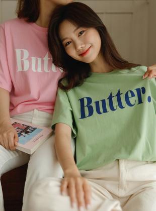 1+1 Butter Lettering Short Sleeve Tee