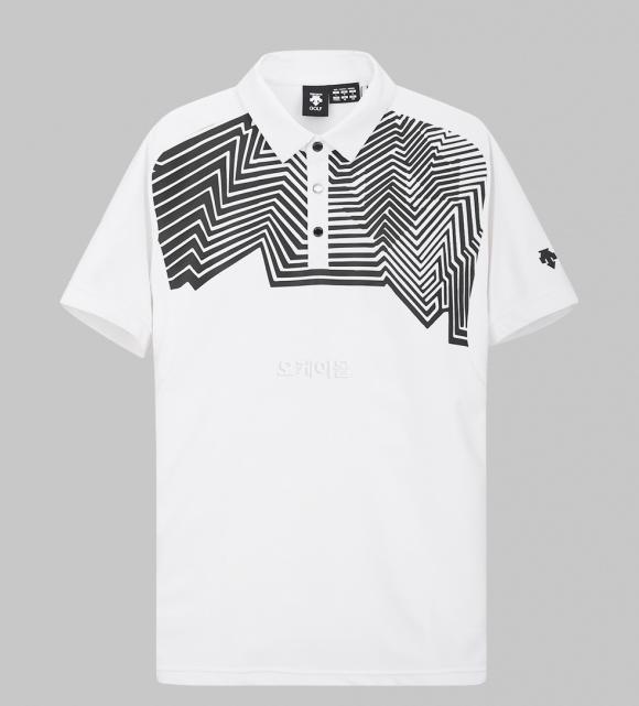 DESCENTE Man Short Sleeve Dry Print Shirt (DGMPJA19-WH00)