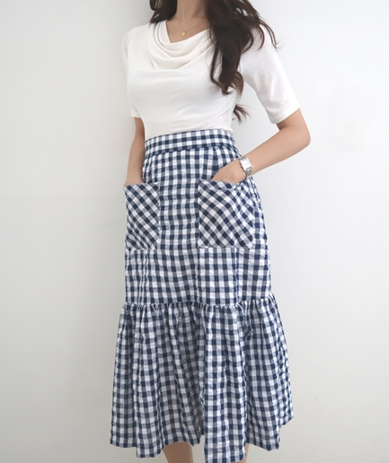 wendy pocket check Skirt