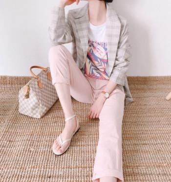 pastel basic Pants