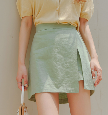 pabel linen Pants-Skirt