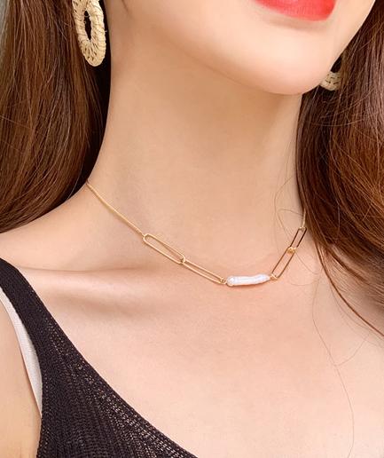 clip pearl Necklace