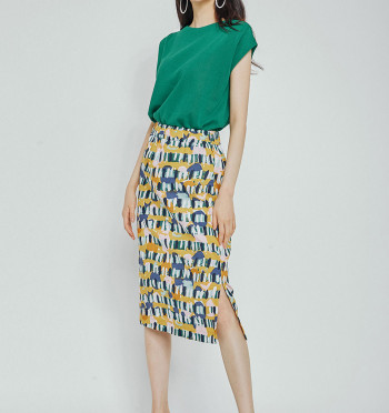 Multy color Pattern Skirt