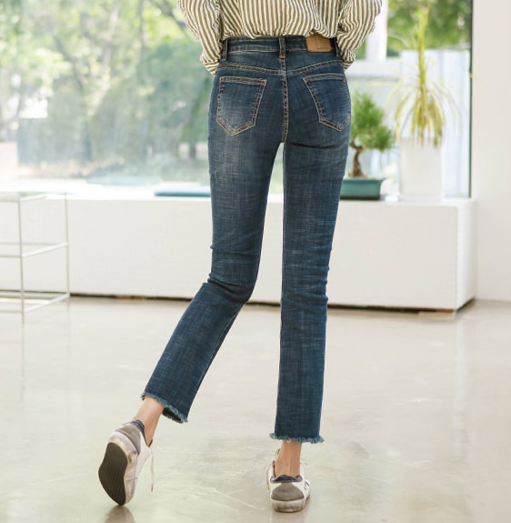 Honey span daily semi-boots cut jeans
