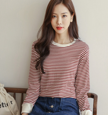 Jens Stripe Color Scheme Sleeve Long Tee