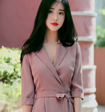 Feminine pink shirts Dress