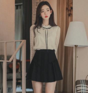 helen lace detail skirtpants