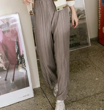 Micker pleats wide pants 45597