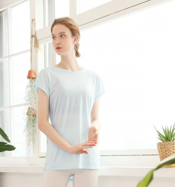 Volley strap T-shirt - Skyblue