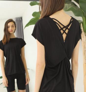 Volley strap T-shirt - Black