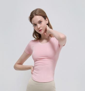 New Wave Wavy T-Shirt - Powder Pink