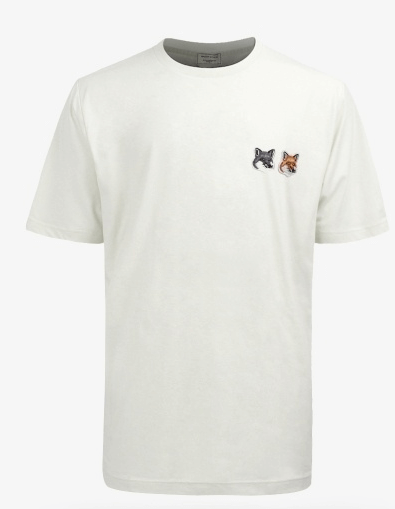 19FW / T-shirt Double Fox Head Patch (BU00103KJ0008-LT)