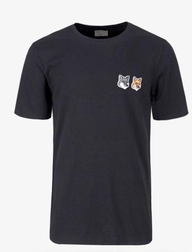 19FW / T-shirt Double Fox Head Patch (BU00103KJ0008-AN)