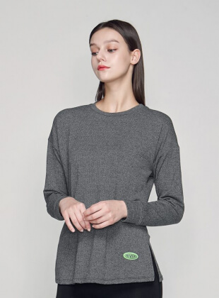 tommy brushed SweatShirt (T0022) - Charcoal