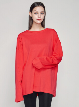 aria long sleeve T (T0023) - Red