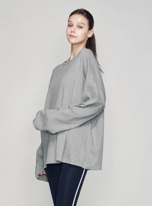 aria long sleeve T (T0023) - Gray