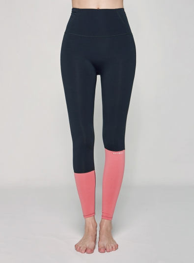 Retro leggings (B0025) - Gray_Pink