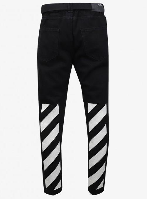 19FW Diagonal Stripe Denim Jean