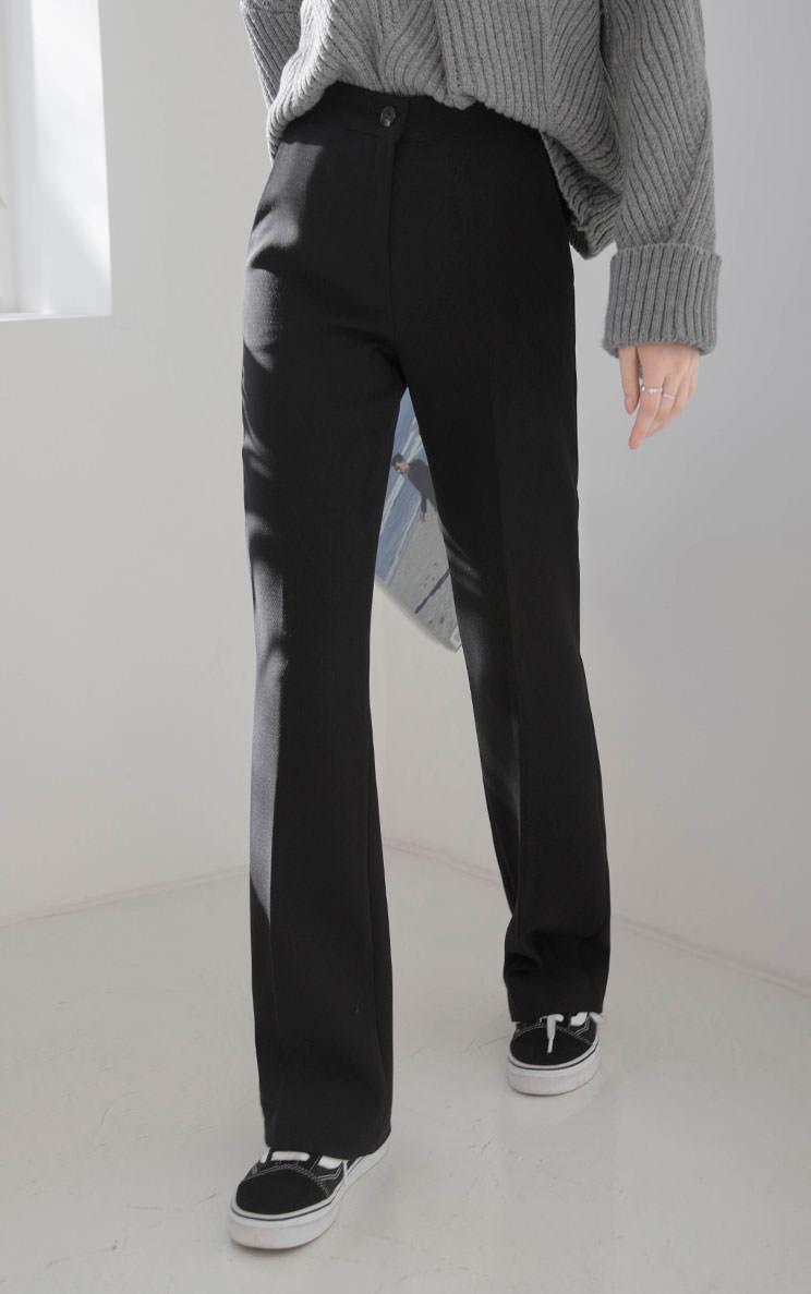 Slim semi long boots cut slacks S203