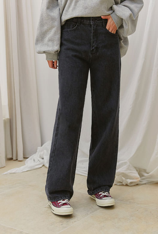 hovel wide long denim pants