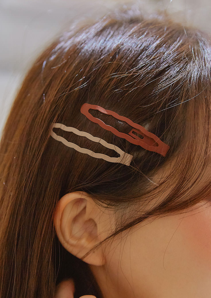 billow color wave hair pin