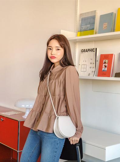 Jelvison Shirring blouse