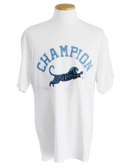 Champion Cottonrich Graphic Tshirt (GT81-WHC43 WHITE/TIGER)