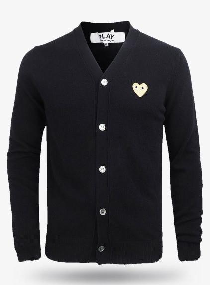 19New Gold Heart Wappen Wool Cardigans (P1N050)