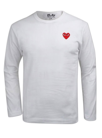 19New Red Heart Wappen Long Sleeve Tee (P1T118)