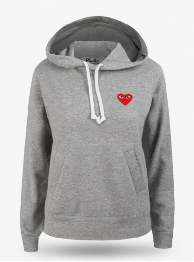 19FW Red Heart Wappen Hoodie Gray (P1T169)