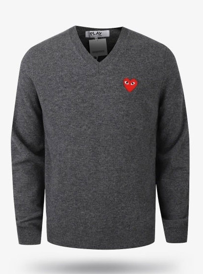 19New Red Heart Wappen V-neck Wool Knit (P1N002)