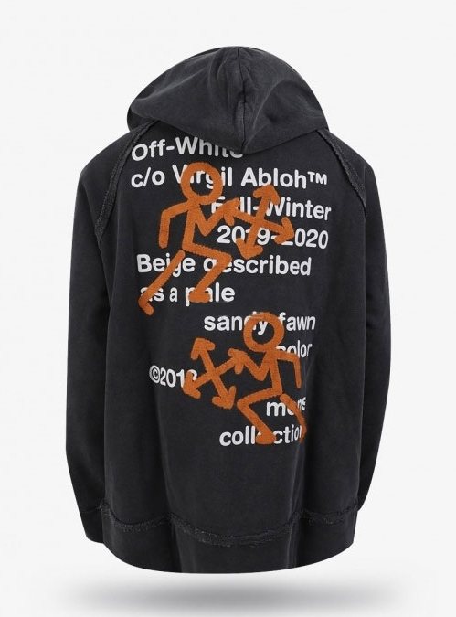 19FW Pictogram Incomplete Hoodie (1088)