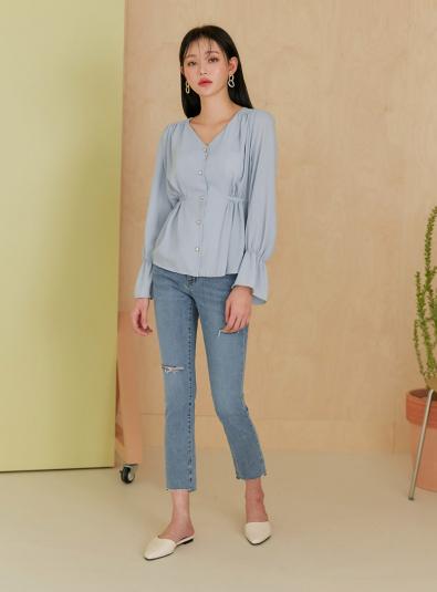 edith chiffon strap blouse