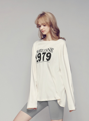 Fine Loose Long-sleeved T-shirt - Ivory