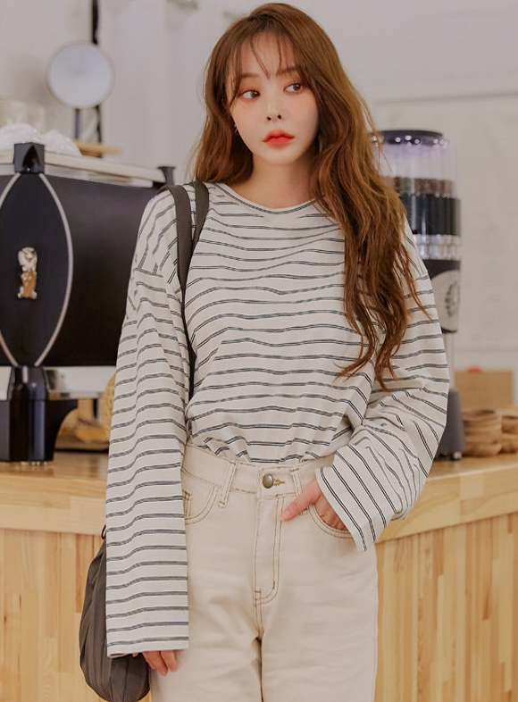 double stripe loose fit t