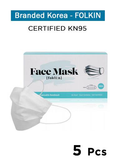 Foklin. Face Mask - KN95 (5 Pcs)