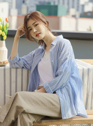 Light Rayon Striped Shirt