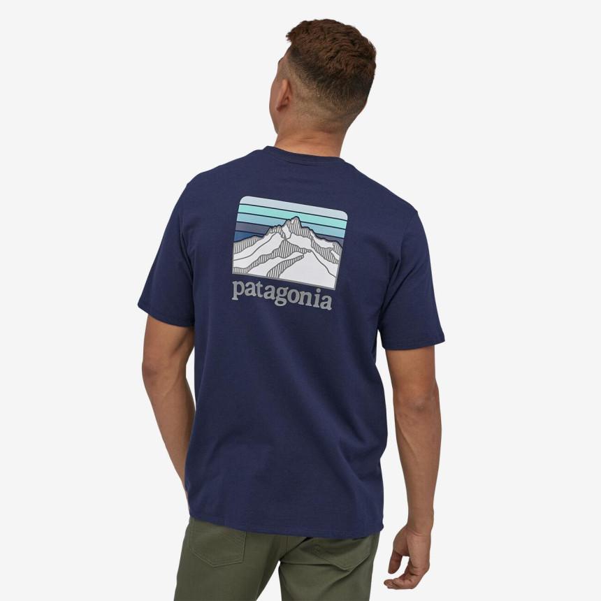 PATAGONIA Line Logo Ridge Pocket Responsibili-Tee - Classic Navy