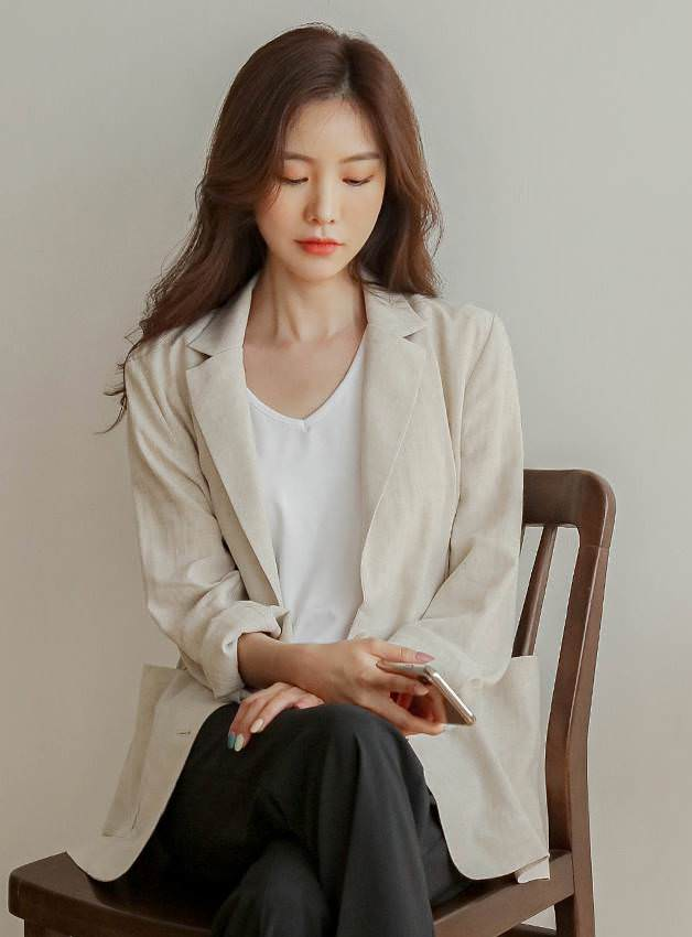 Small Linen + Rayon Single Jacket