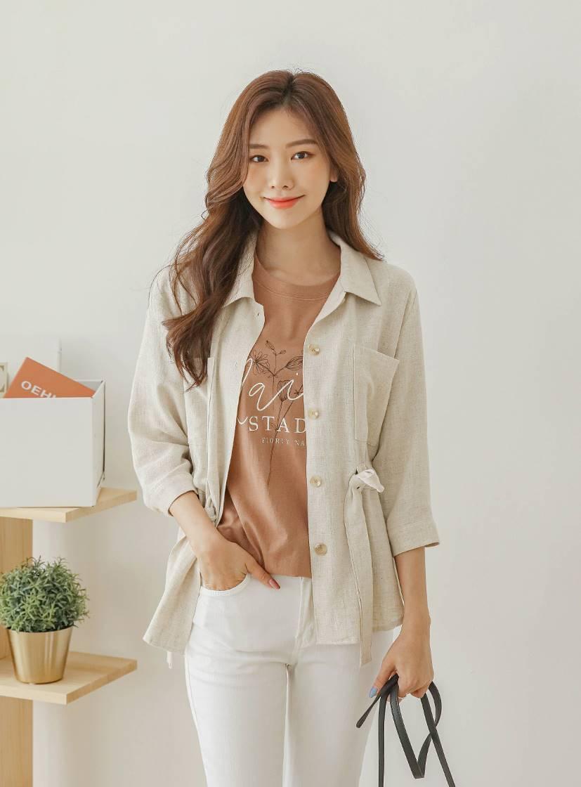 Oching Linen + Rayon 2-Way Jacket