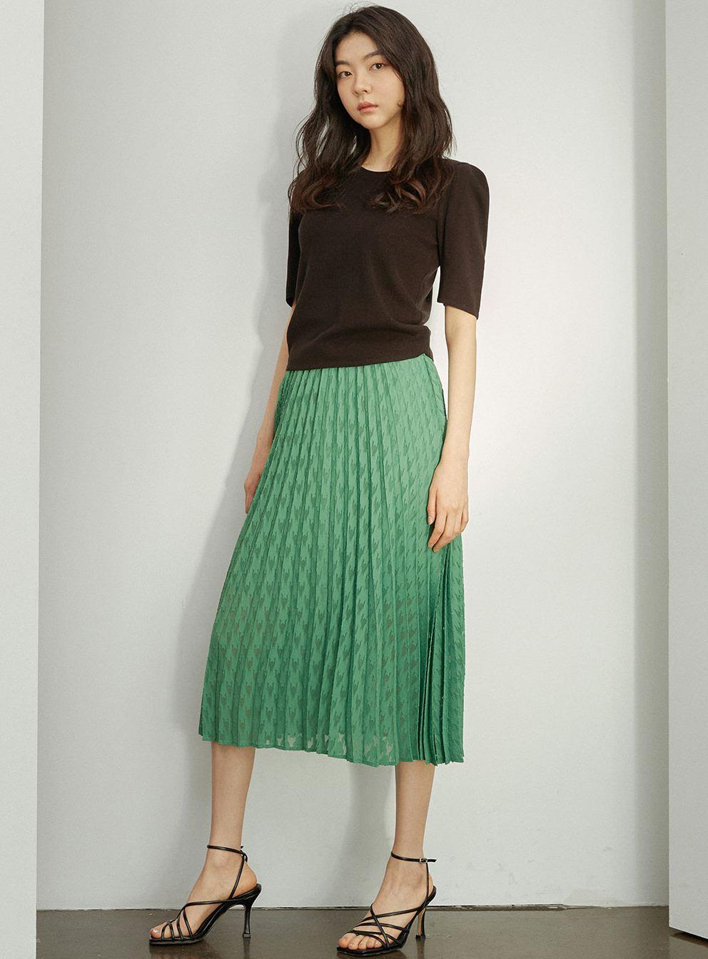 Pleated Banding Skirt