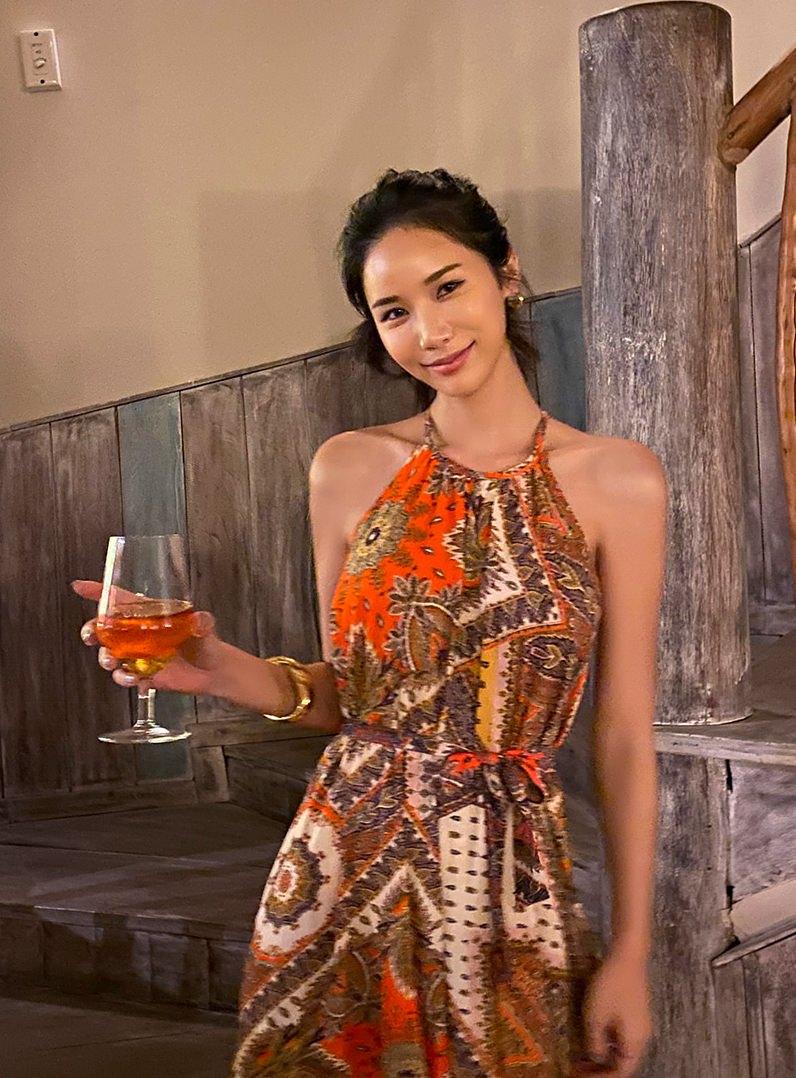 Royal Ethnic Halter Dress