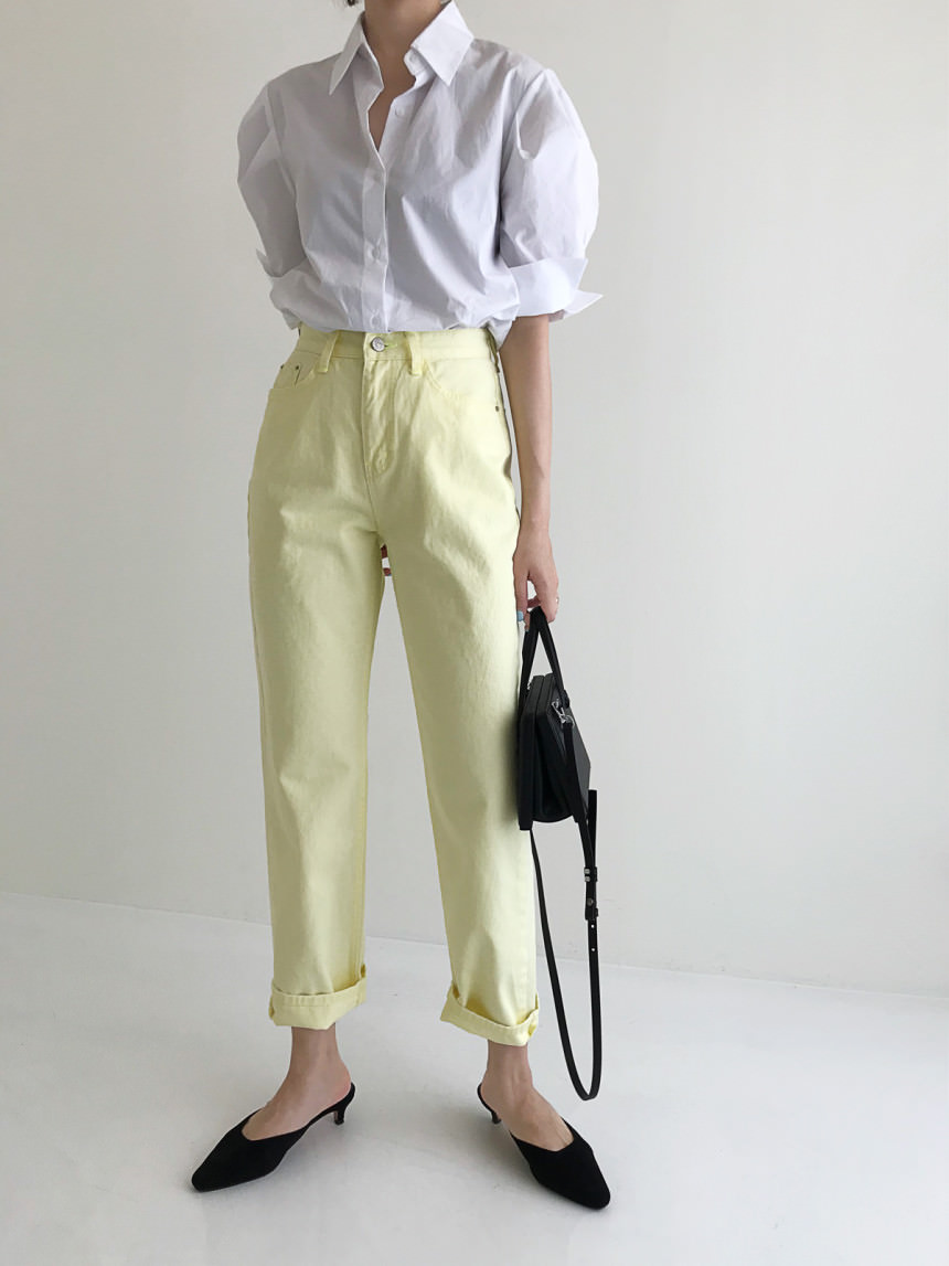 After Neon Stitch Semi Exhaust Cotton Pants