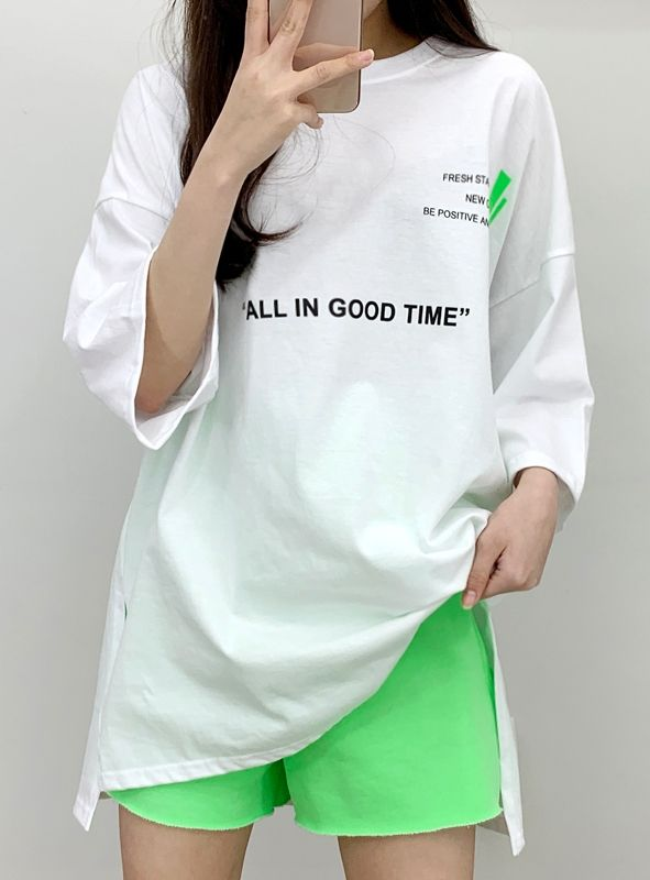 Good Tam Patch Unbal Short Sleeve Tee