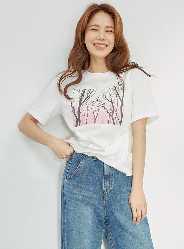 Twisted Draped T-shirt