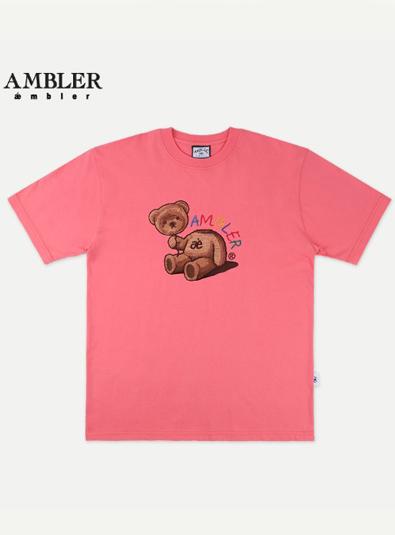 Ambler Baloon Bear Overfit T-shirt (AS703_CORAL PINK)