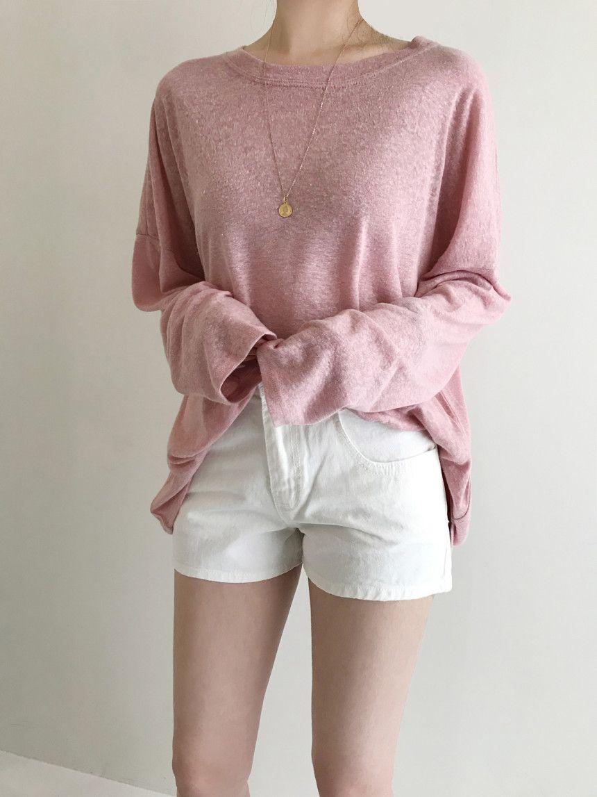Hardy linen boxy overfit long sleeve t-shirt