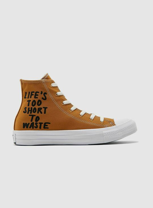 converse chuck taylor renew mustard high top (164918C)