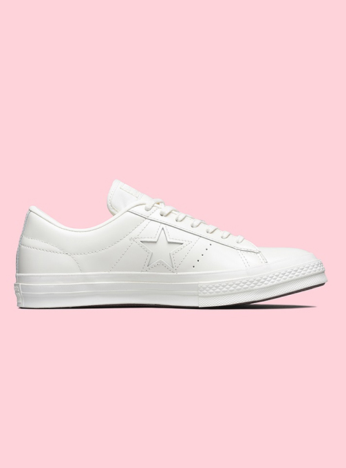 converse one star leather low white (165742C)